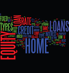 Z types of home equity loans revised text vector