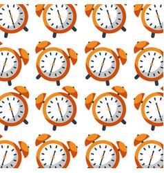 alarm clock time seamless pattern design vector image