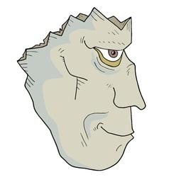 Broken zombie face vector image