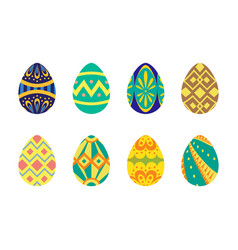 easter egg flat tribal style vector image
