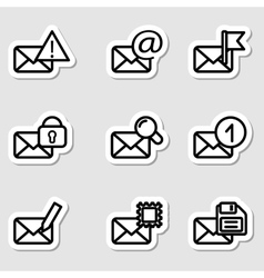 Envelopes Icons as Labels Vol2 vector image vector image