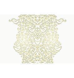 Floral border or banner vertical vector image