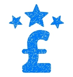 Pound Business Stars Grainy Texture Icon vector image vector image