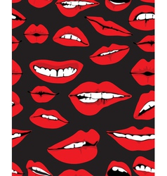 seamless lips background vector image