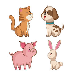 cute collection wildlife image vector image