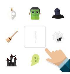 flat icon celebrate set of skeleton monster vector image vector image