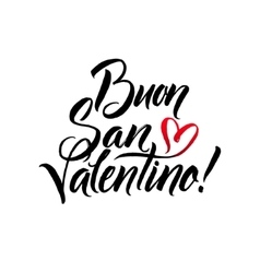Happy Valentines Day Black and Red Lettering vector image vector image