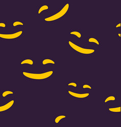 seamless pattern of smiling halloween face vector image vector image