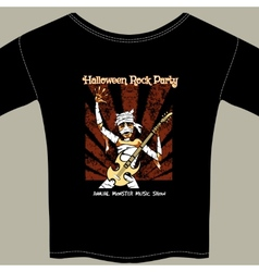 T Shirt with Halloween Rock Music Show Graphic vector image vector image