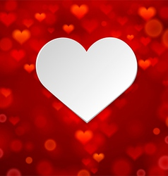 White heart on background vector image vector image