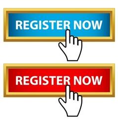Register now set vector image