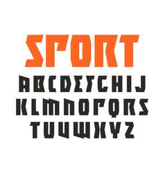 sanserif font in sport style vector image