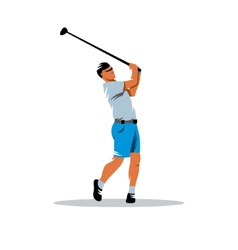 Golfer sign vector image vector image