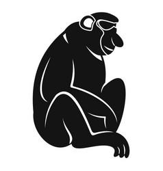 Orangutan icon simple style vector