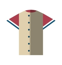 shirt uniform baseball team icon vector image vector image
