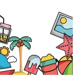 Thing that do in the island on vacation background vector
