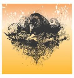wicked crow apparel design vector image
