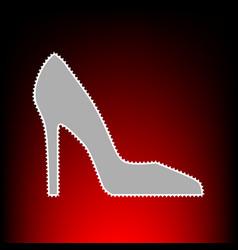 woman shoe style vector image
