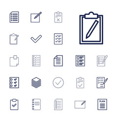 22 list icons vector