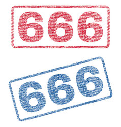 666 textile stamps vector