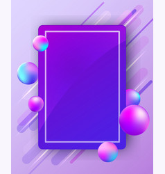 abstract bright background with balls vector image