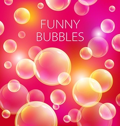 Abstract soap bubbles background Transparent vector