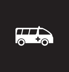 ambulance graphic design template isolated vector image