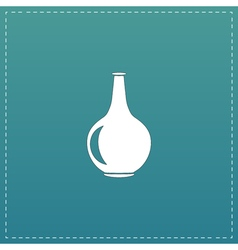 Amphora flat icon vector
