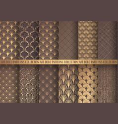 Art deco patterns set vector