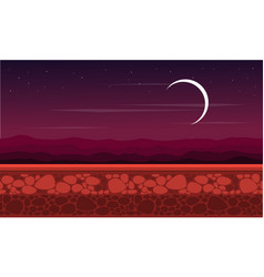 At night scenery game background style vector