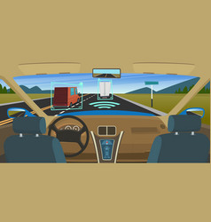 Autonomous car feature vehicles new smart vector