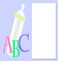 Background with baby bottle vector image