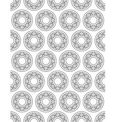 ball bearing contour design pattern vector image