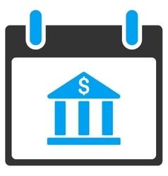 Bank Building Calendar Day Toolbar Icon vector