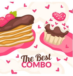 best combo bakery shop store promotion banner vector image