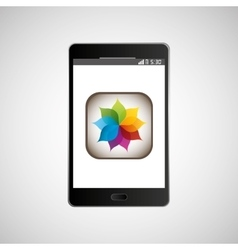 Big smartphone black picture icon vector