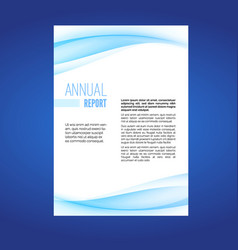 Business report modern wave layout leaflet vector