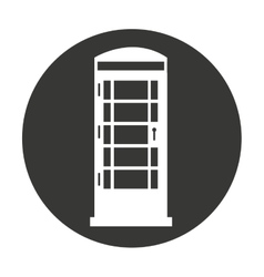 cabine telephone london isolated vector image