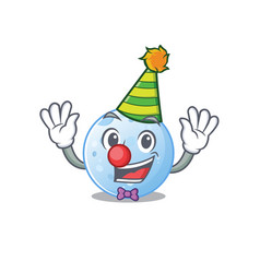Cartoon character design cute clown blue moon vector