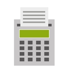 cash register isolated icon design vector image