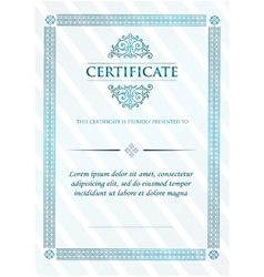 Certificate of Achievement Vintage Frame vector