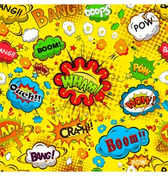 Comic speech bubbles seamless pattern vector image