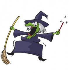crazy witch vector image
