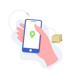 delivery package or order tracking concept vector image