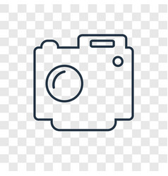 digital camera concept linear icon isolated on vector image