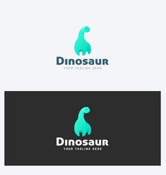 dinosaur logo template vector image