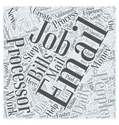 Email Processor Jobs Word Cloud Concept vector image