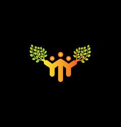 family tree logo template design vector image