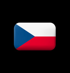 Flag of czech republic matted icon and button vector