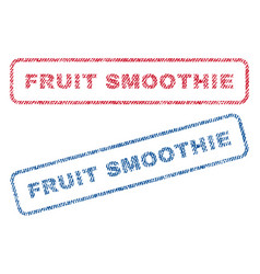 Fruit smoothie textile stamps vector